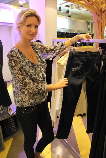 Picture of Brand Ambassador, Lainey with Swarovski crystal embellished jeans