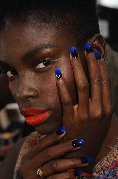 Two tone nails on fabulous model...totes amaze!