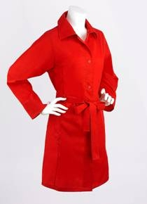 Fulton's belted shower mac in red £25