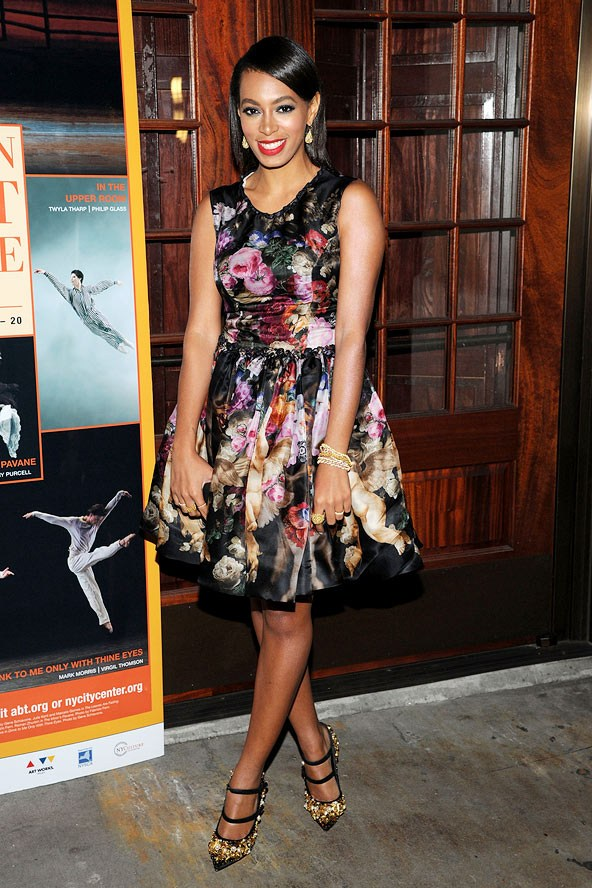 Salonge Knowles in winter florals