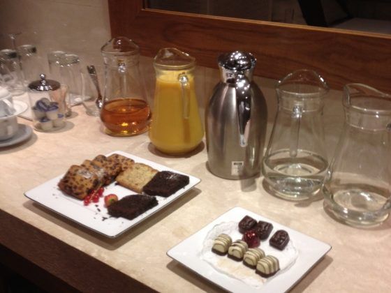 Chocs and juice at Ajala Spa, St Pauls