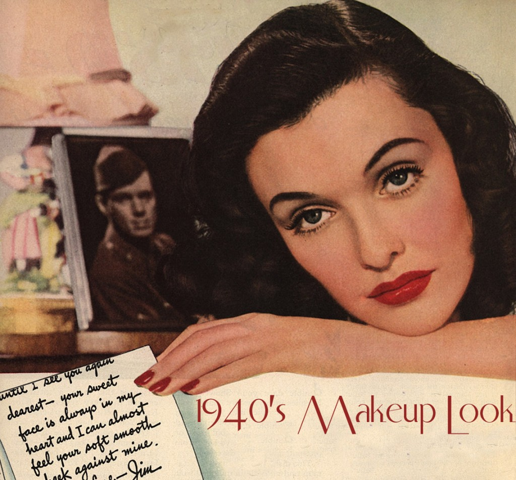 Woman modelling 1940s makeup look