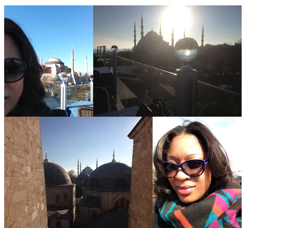 Images of Istanbul and Esprit sunglasses in purple
