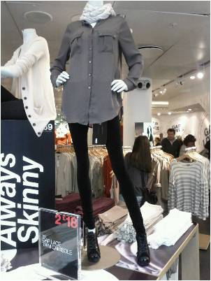 Very slender mannequin