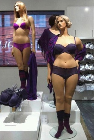 Swedish 'plus sized' mannequins