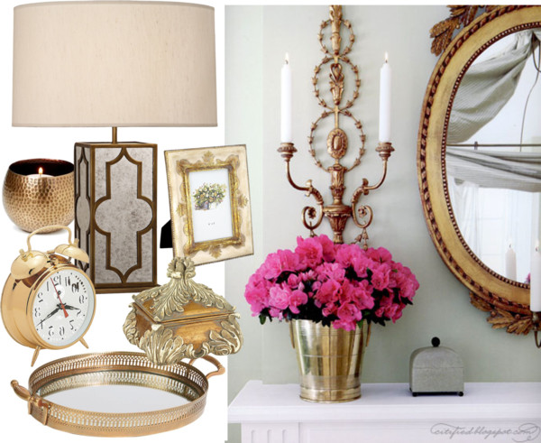 2013 home decor trends brass home accents 2013 styleable for Interior home accents