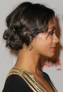 short cropped tousled curly bob