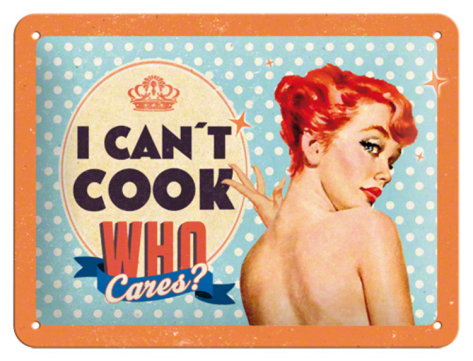 Picture of vintage model: I can't cook, but who cares?