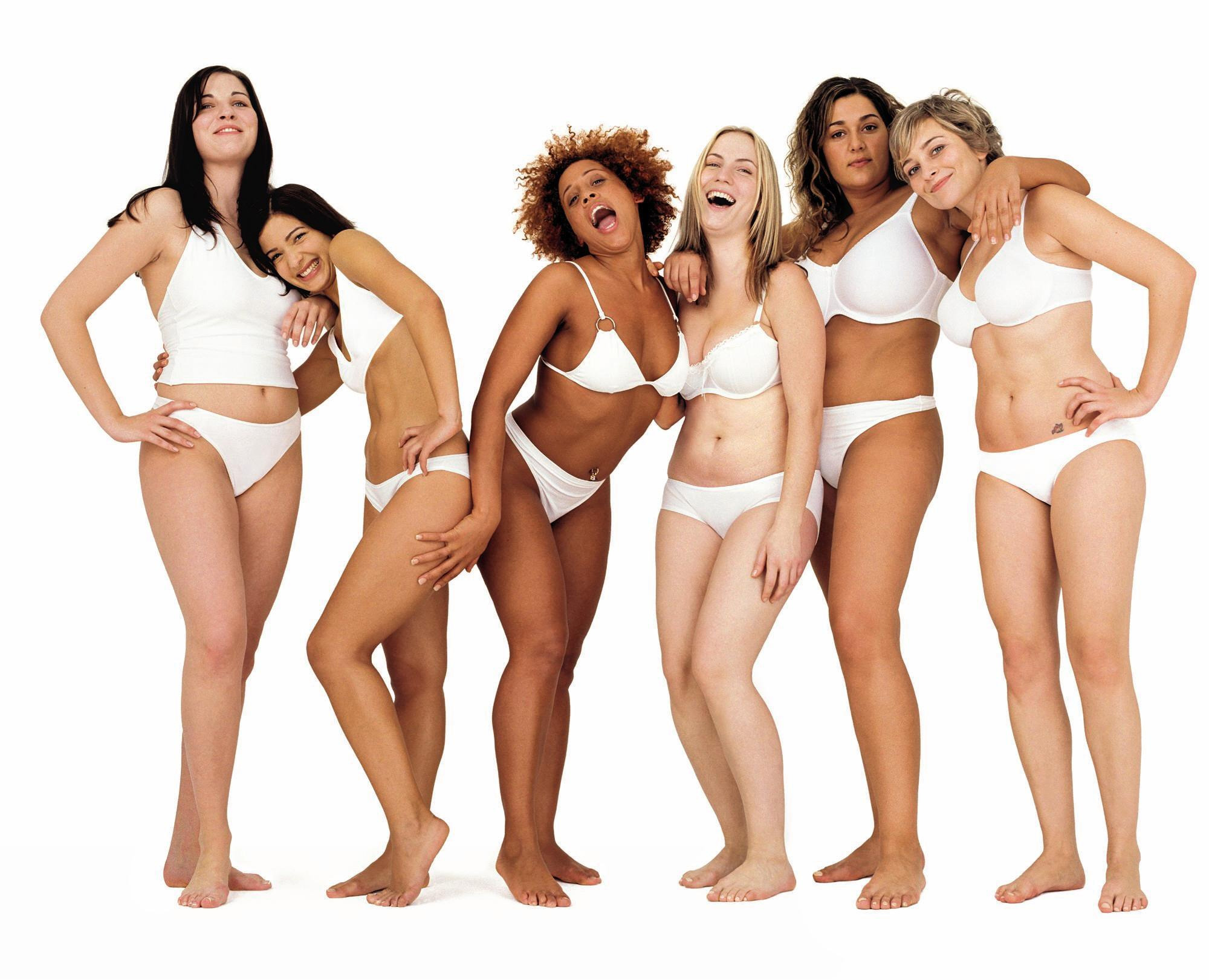 Campaign for Real Beauty by Dove: Beautiful and different women stand in a row.