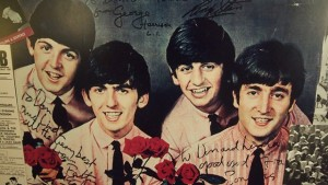 Signed portrait of the Beatles