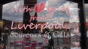 Sign that reads 'With love from Liverpool'