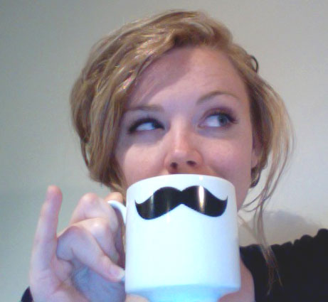 Allerleirah with a mustached mug