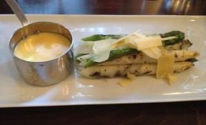 Asparagus and parmesan starter @ Bumpkin
