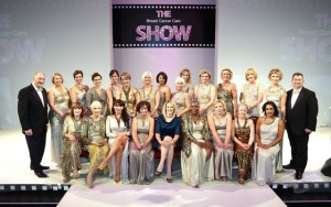 Models (including Susan and Miranda) at the Breast Cancer Care Show.