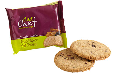 Diet Chef fruit and spice oat biscuits