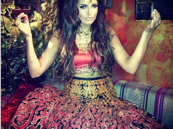Binky in Indian dress