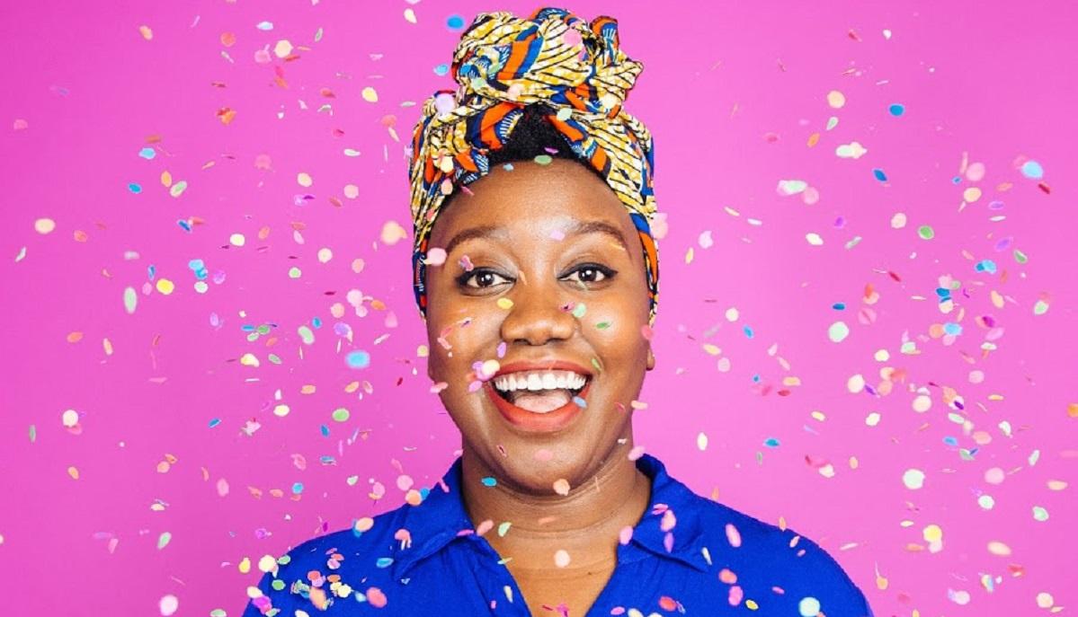 Evelyn pink confetti