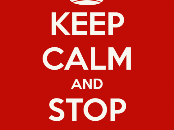 Keep calm and stop shopping
