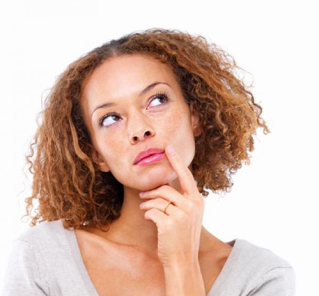 Woman wondering