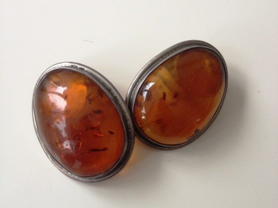 Oval Stone Clip Earrings £20