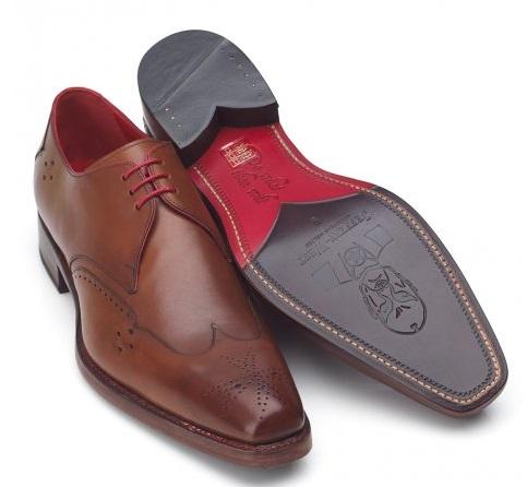 Jeffery West Shoes Camel 'Dexter Last' Leather Lace Up Business Shoes