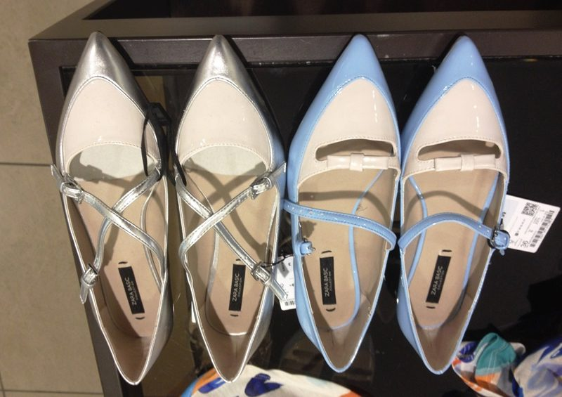 Patent pointy flats from Zara