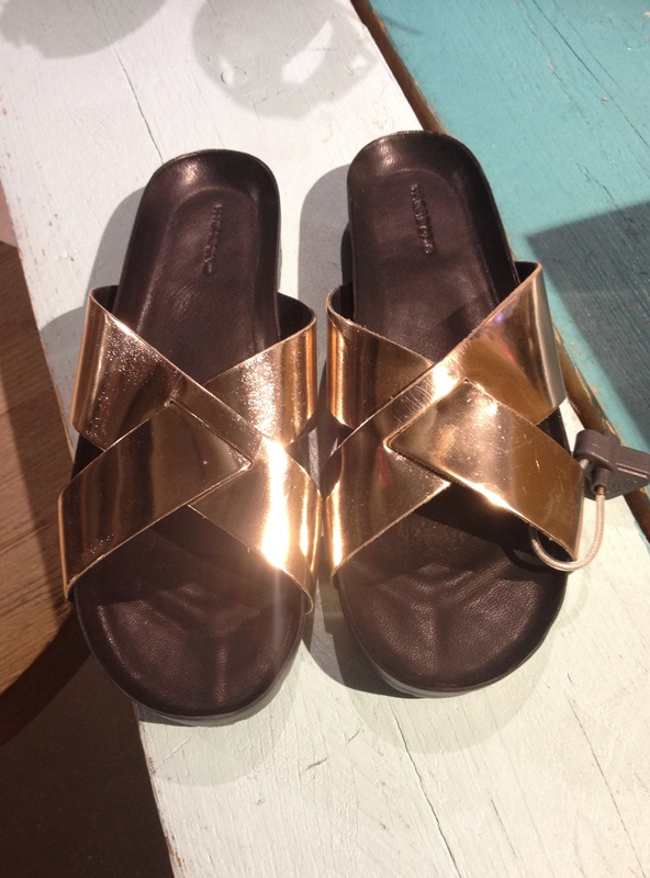 Metallic sliders from Urban Outfitters