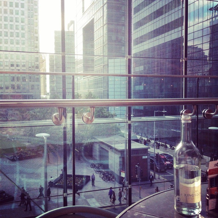 The view form our table in The Pearson Room, Canary Wharf