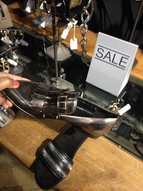 Metallic loafers from All Saints
