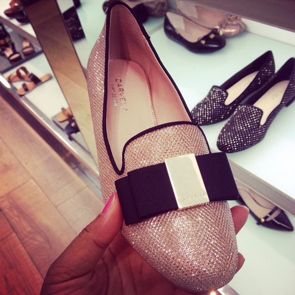 Carvela glittery loafers