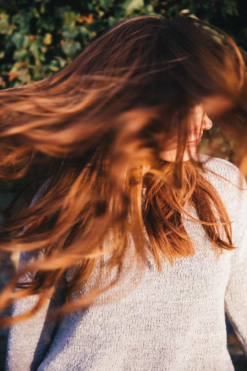 Shiny twirly hair