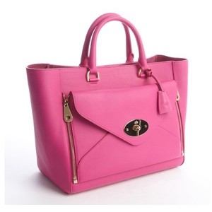 Mulberry Pink Calfskin 'willow' Tote Bag