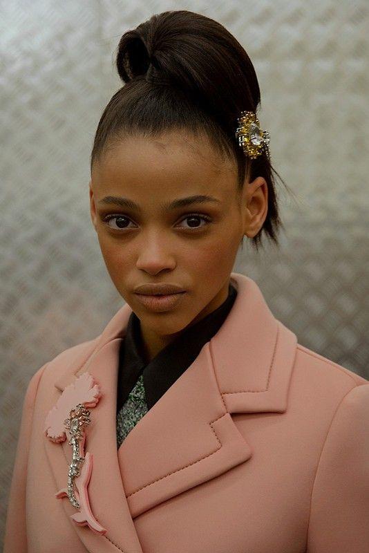 Model at Prada Show