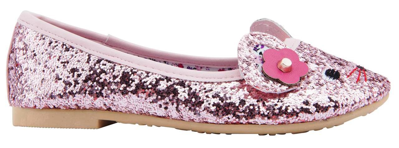 Pink Glitter flats