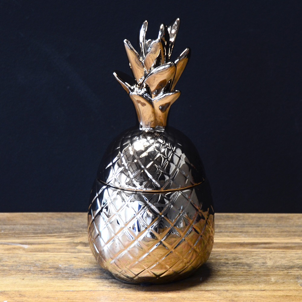 Copper Ceramic Pineapple Pot