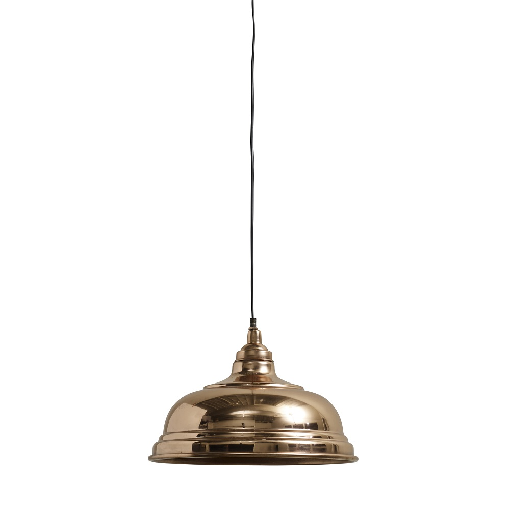 Copper-Plated Bell-Shaped Hanging Lamp (Nessia)