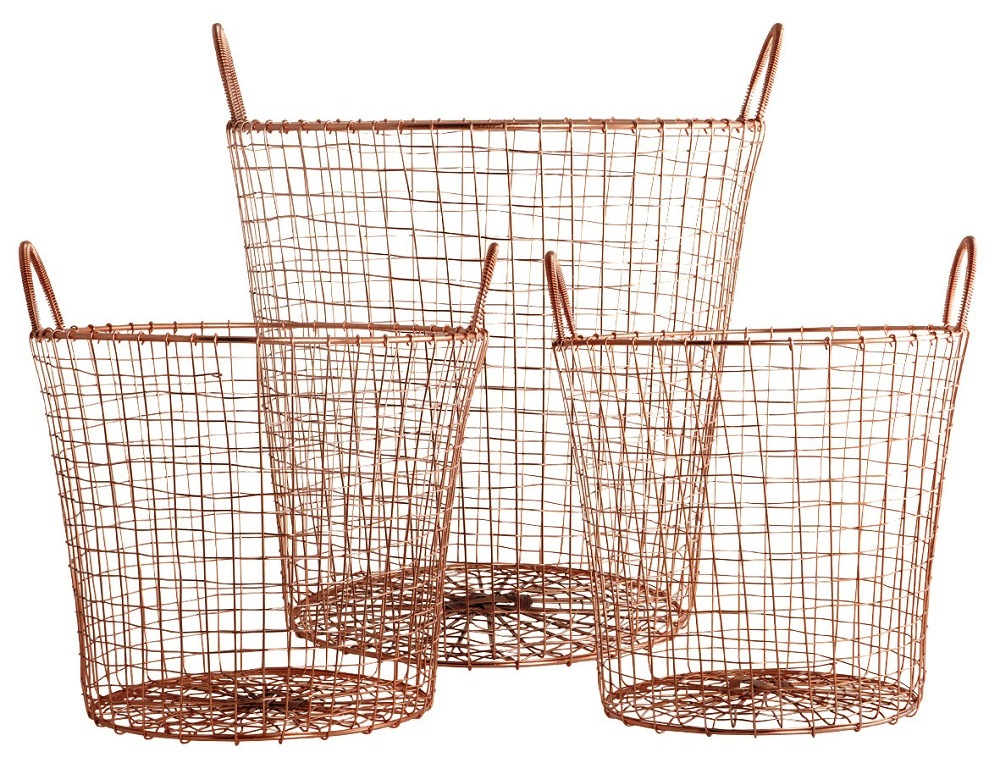 Copper wire basket set