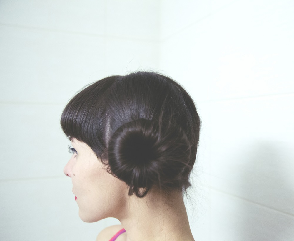 Hair style two buns