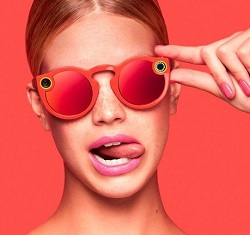 Snapchat glasses in red