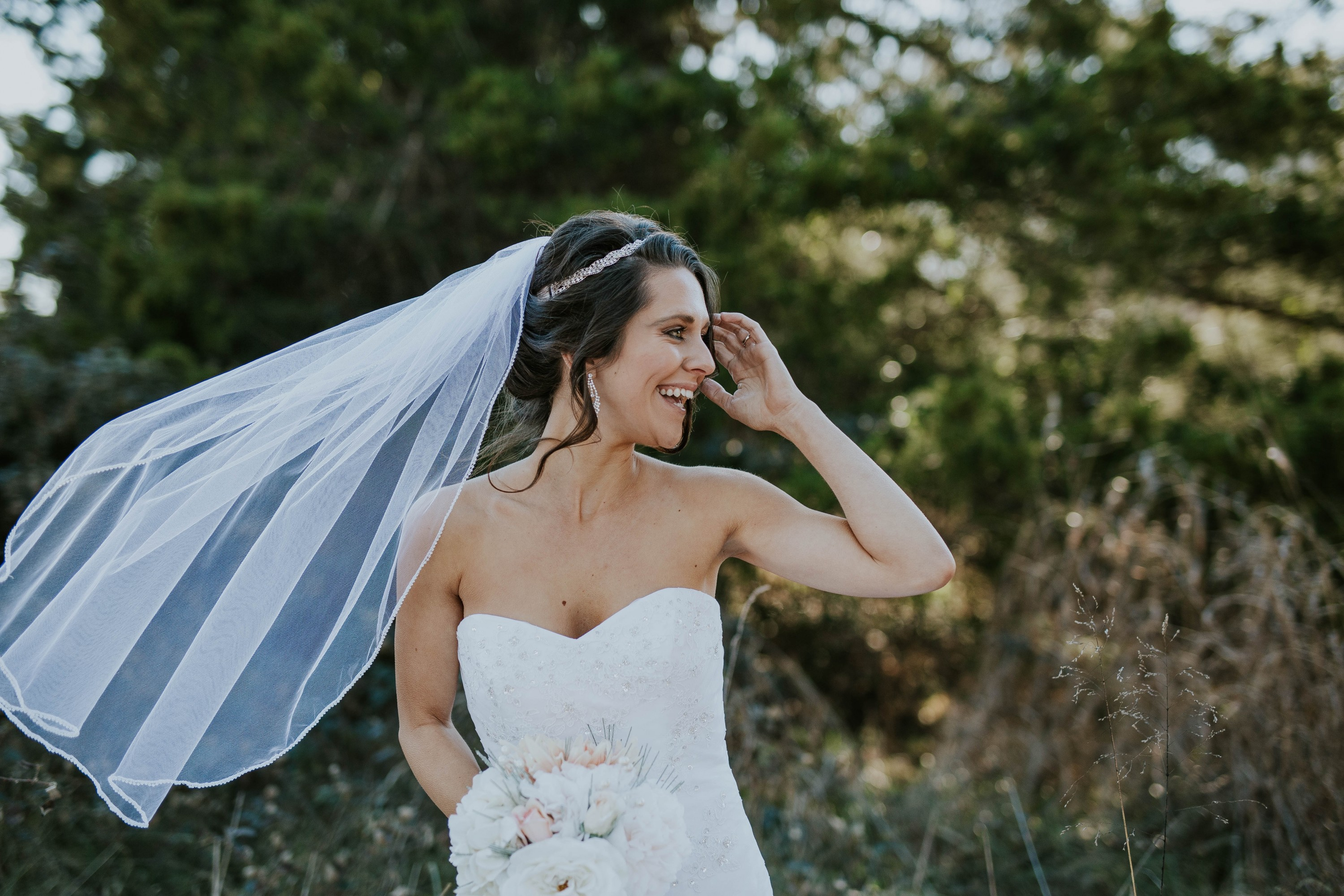 Boob top wedding dresses