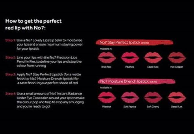 No7 the perfect red lip