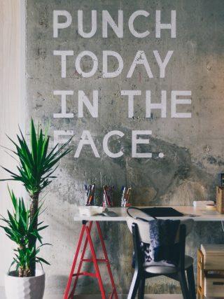 Slogan written on wall