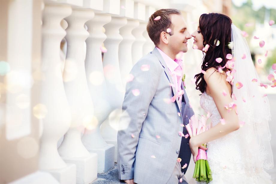 Wedding suit in pale blue