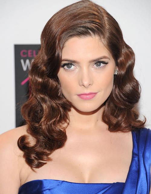 Ashley Green with Hollywood glam hair