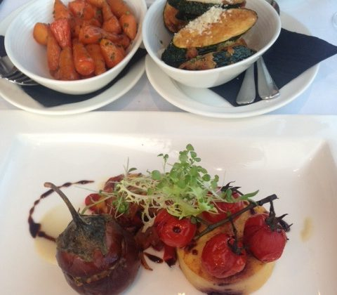 Our delicious meal at Cannizaro House restaurant