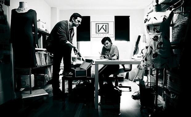 Kathy and Erik in their studio