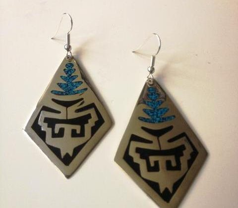 Earrings with crushed turquoise £12