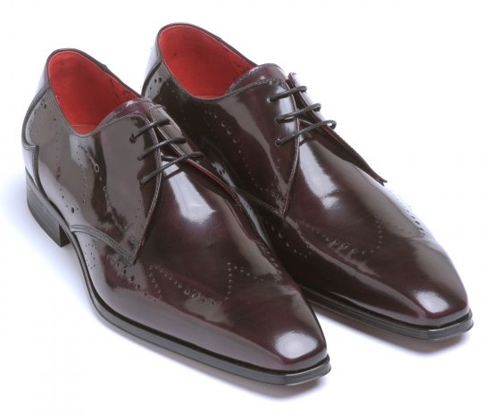 Jeffery West Shoes Muse, Purple 'Capone' Punch Wing Tip Shoes
