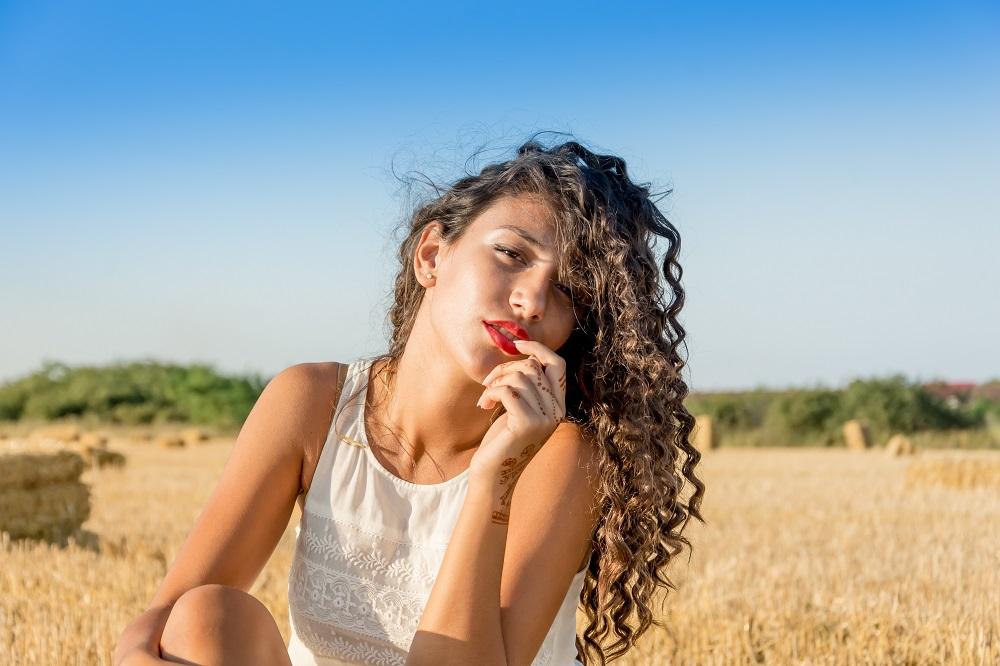 Woman sitting in the sun