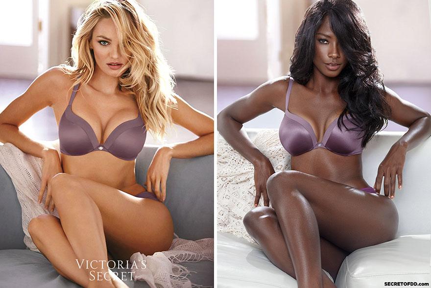 Deddeh Howard modelling underwear